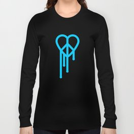 Heart peace blue Long Sleeve T-shirt