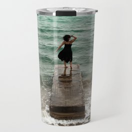 The Woman And The Sea Travel Mug