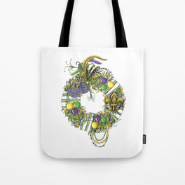 Mardi Gras Wreath Tote Bag