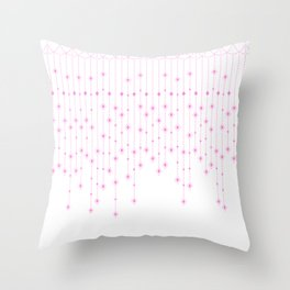 Pink Diamonds Throw Pillow