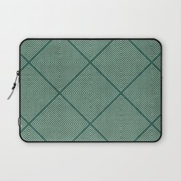 Stitched Diamond Geo Grid in Green Laptop Sleeve