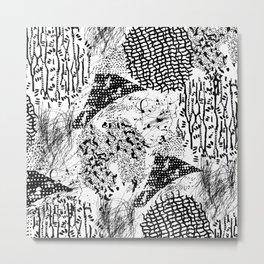 graphic mosaic Metal Print