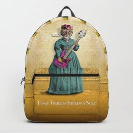 Tessy Tigress Shreds a Solo . . . Grrrrrr! Backpack