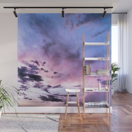 fly up to the blue pink sky Wall Mural