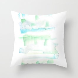 171122 Self Expression 1  Abstract Watercolors Throw Pillow