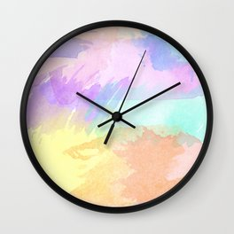 Watercolor Splash Wall Clock