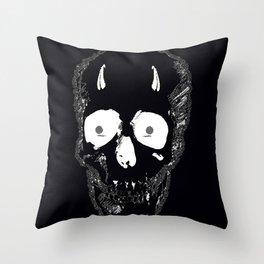Devil Skull Throw Pillow
