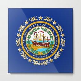 New Hampshire State Flag Metal Print