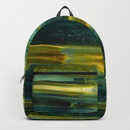 Abstract artwork #18/1 - The Green Light Of Nature - Abstract painting Backpack