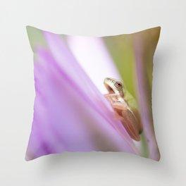 Wallum Sedge Frog Throw Pillow