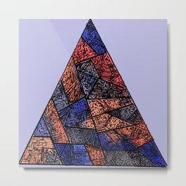 Hipster Pyramid Metal Print