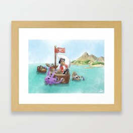 Pirate Ship Treasure Framed Art Print