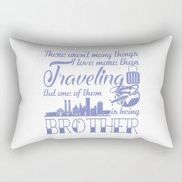 Traveling Brother Rectangular Pillow