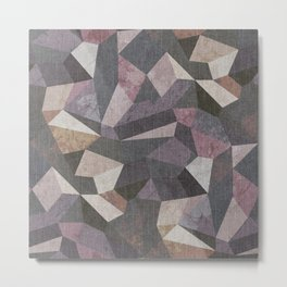 Low Poly Geometric Background Metal Print