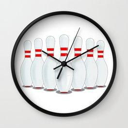 Ten Pins Wall Clock