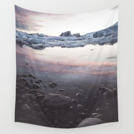 Jokulsarlon Lagoon - Sunset - Landscape and Nature Photography Wall Tapestry