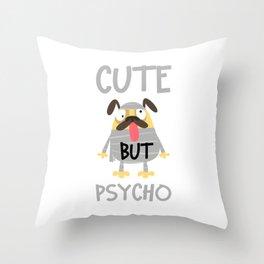 Crazy Pug Dog Throw Pillow