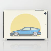 honda iPad Cases featuring Honda CRX mk2 vector illustration by Underground Worm