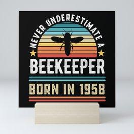 Beekeeper born 1958 70th Birthday Gift Beekeeping Mini Art Print