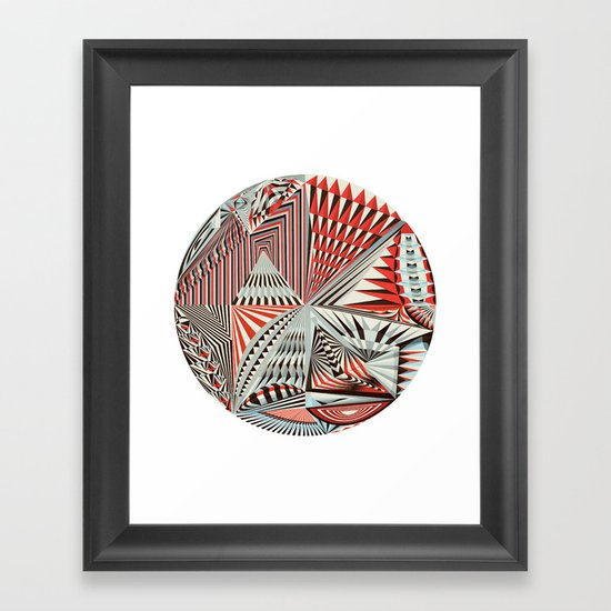 The Geometry of Thoughts (1) Framed Art Print