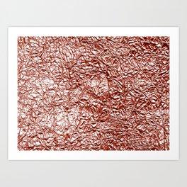Rose gold crease Art Print