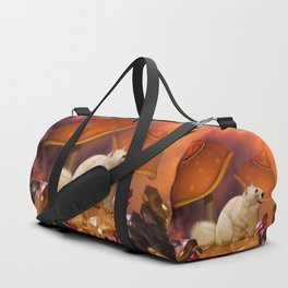 Awesome funny squirrel polar bear Duffle Bag
