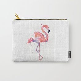 Pink Flamingo Watercolor Tropical Animals Bird Carry-All Pouch