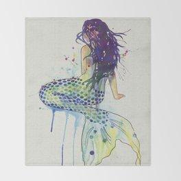 Mermaid - Natural Throw Blanket