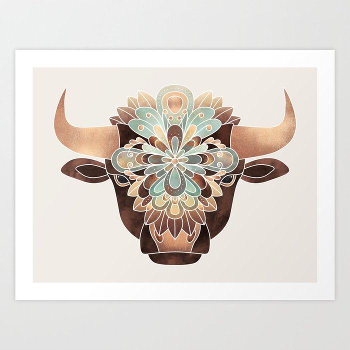 Flower Bull Art Print