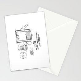 Coffee pot Goldsmith Martyn patent art 1899 Stationery Cards