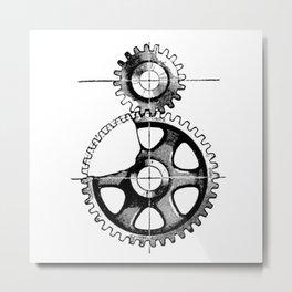 Gears. Metal Print