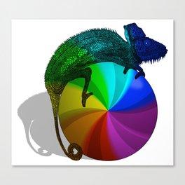 Spinning Beach Ball of Death Chameleon Canvas Print