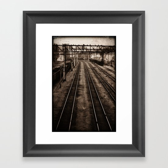 Choosing roads  Framed Art Print