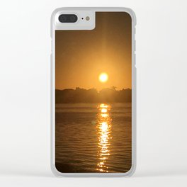 North Jetty Sunrise Clear iPhone Case