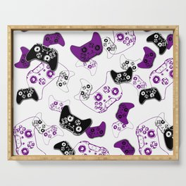 Video Game White & Purple Serving Tray