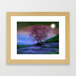 Tree in Moonlight Framed Art Print