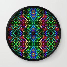 Glittering Kaleidoscope Mosaic Pattern Wall Clock