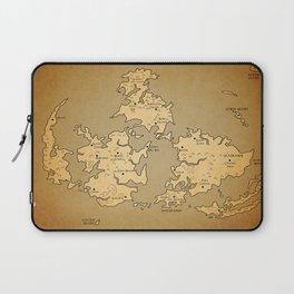 Gaia Midgar Final Fantasy VII Map Laptop Sleeve