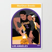 lakers Canvas Prints featuring Marshon Brooks by Everyplayerintheleague