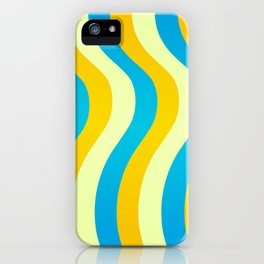 Blue and Gold Waves iPhone Case
