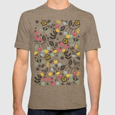 Very Berry Mens Fitted Tee Tri-Coffee LARGE