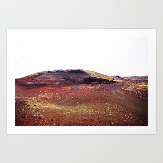 Rainbow rocks, Iceland Art Print