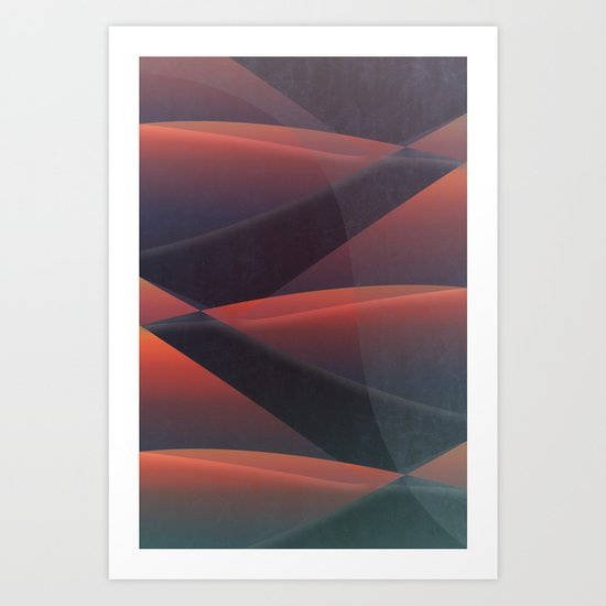 FLYING at Night Art Print