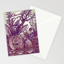 Rabbit Horns Stationery Cards