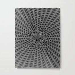 Spiral Rays in Monochrome Metal Print