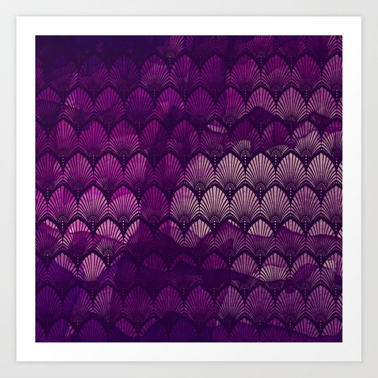 Variations on a Feather II - Purple Haze  Art Print