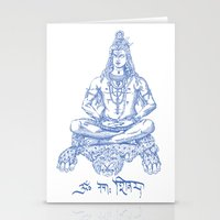 shiva Stationery Cards featuring SHIVA by Only Vector Store - Allan Rodrigo