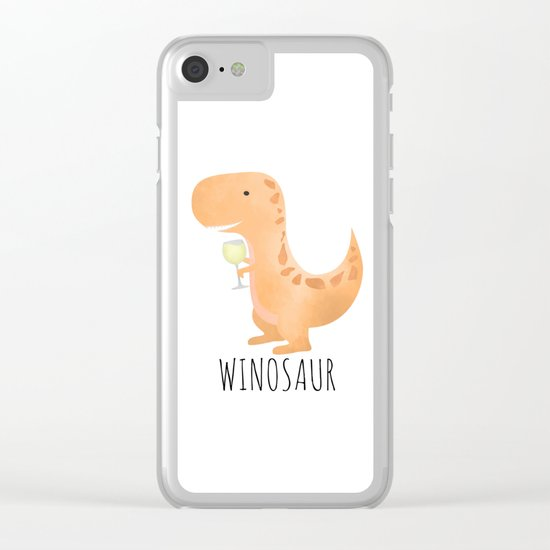Winosaur | White Wine Clear iPhone Case