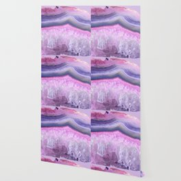 Ultraviolet and Pink Agate Wallpaper