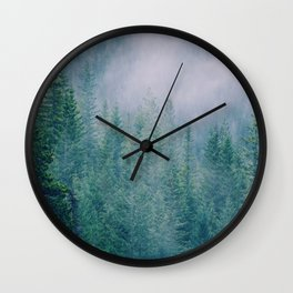 Foggy Forest in Squamish, British Columbia Wall Clock